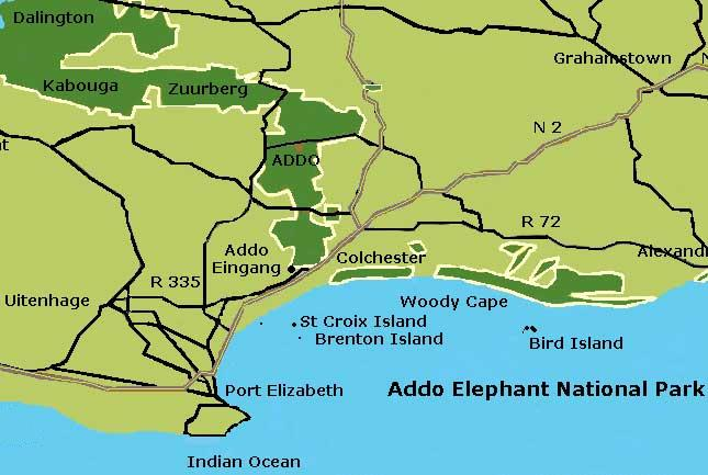 Map Addo National Park